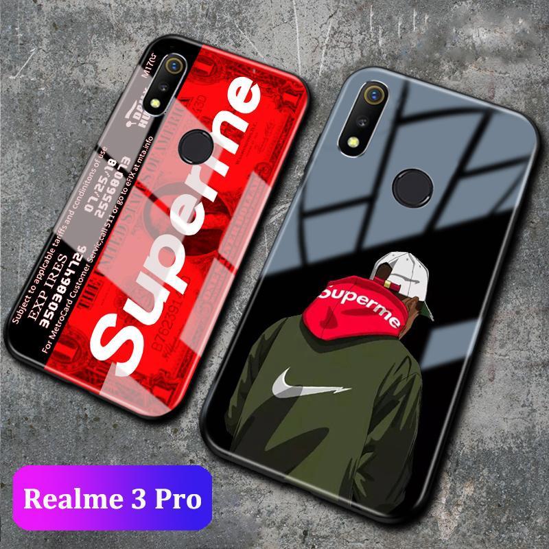 Realme 3 Pro Realme C2 Tempered Glass Cartoon Case