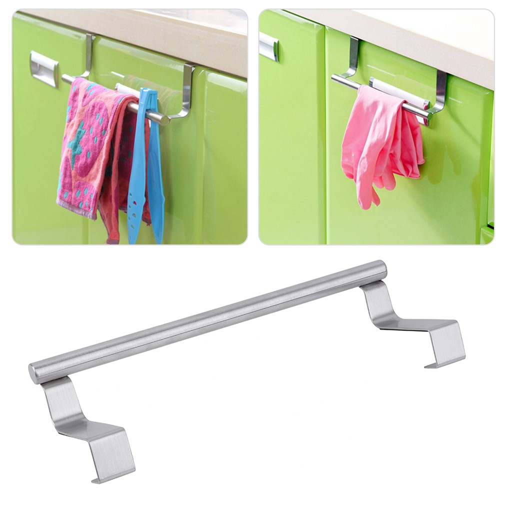 Hooks Shelf Over Door Clothing Hanger Rack Cabinet Door Loop Holder Shelf For Home Bathroom Kitchen Fine Workmanship Bathroom Hardware Towel Racks