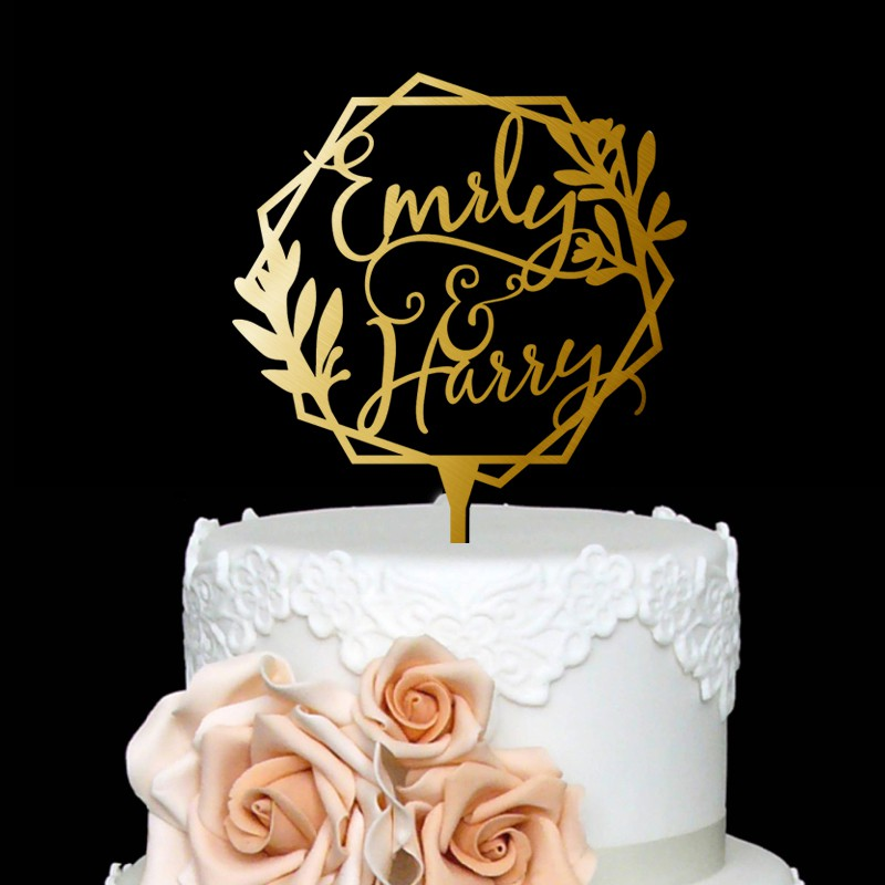 Personalized Wedding Names Cake Topper