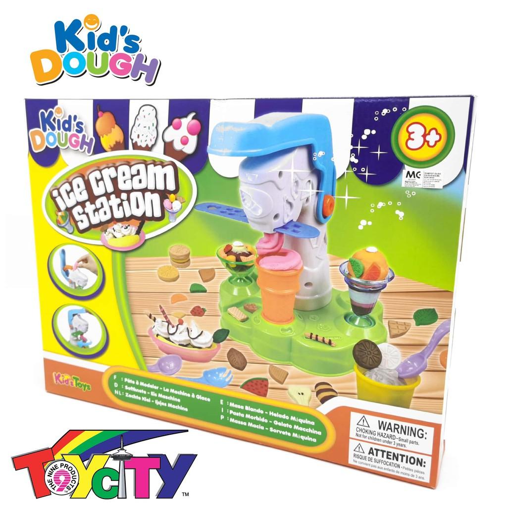 KID\'S TOYS FUN PLAY KIDS DOUGH ICE CREAM STATION PLAYSET FOR KIDS