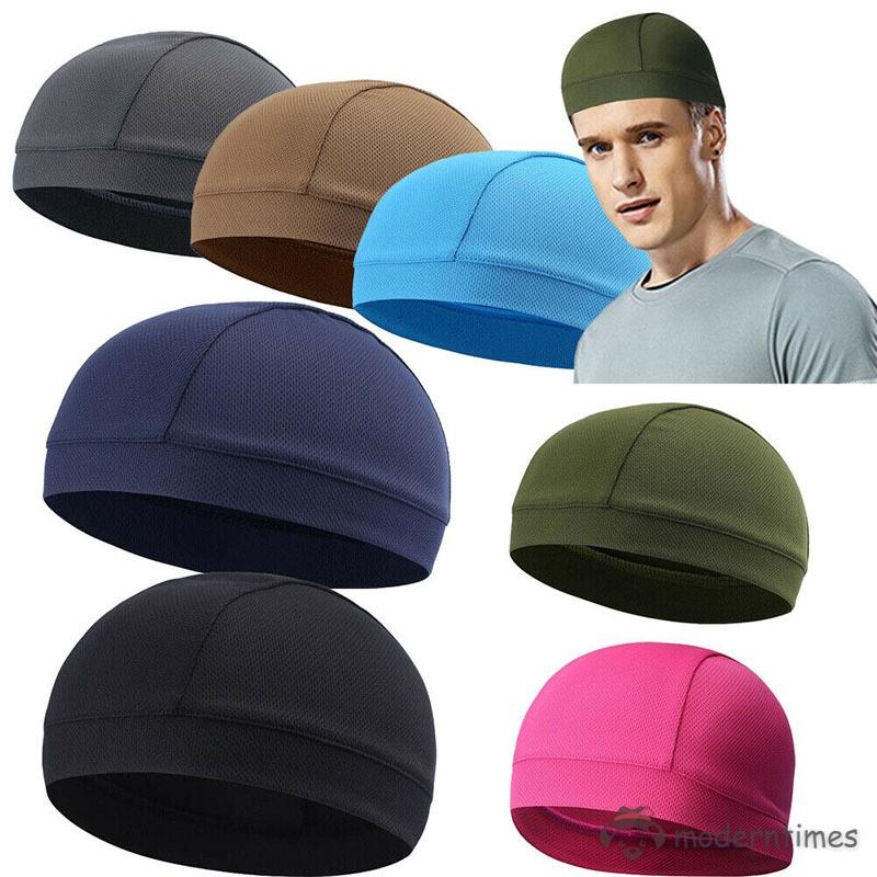 Moisture Wicking Cooling Skull Cap Inner Liner Helmet Beanie Dome Cap~Sweatband
