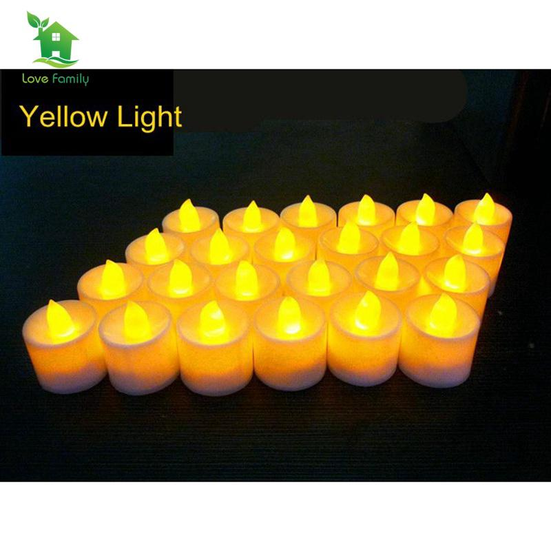 24Pcs Flameless Candle Lights Small LED Night Light Naturally Flickering  Lights