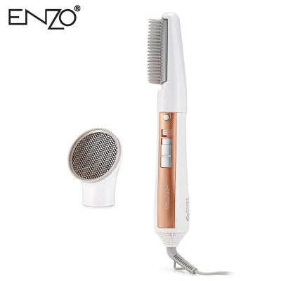 ENZO EN - 502 2-in-1 Hair Styling Rotating Hot Brush Dryer (CHAMPAGNE GOLD)