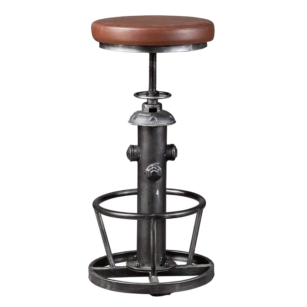 Industrial Swivel Bar Stools Kitchen Island Dining Chairs Pu Seat Bar Counter Height Adjustable Shopee Malaysia