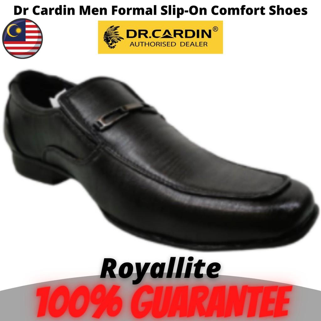 Dr Cardin Men Formal Slip-On Micro Suede Comfort Shoes (6202) Black