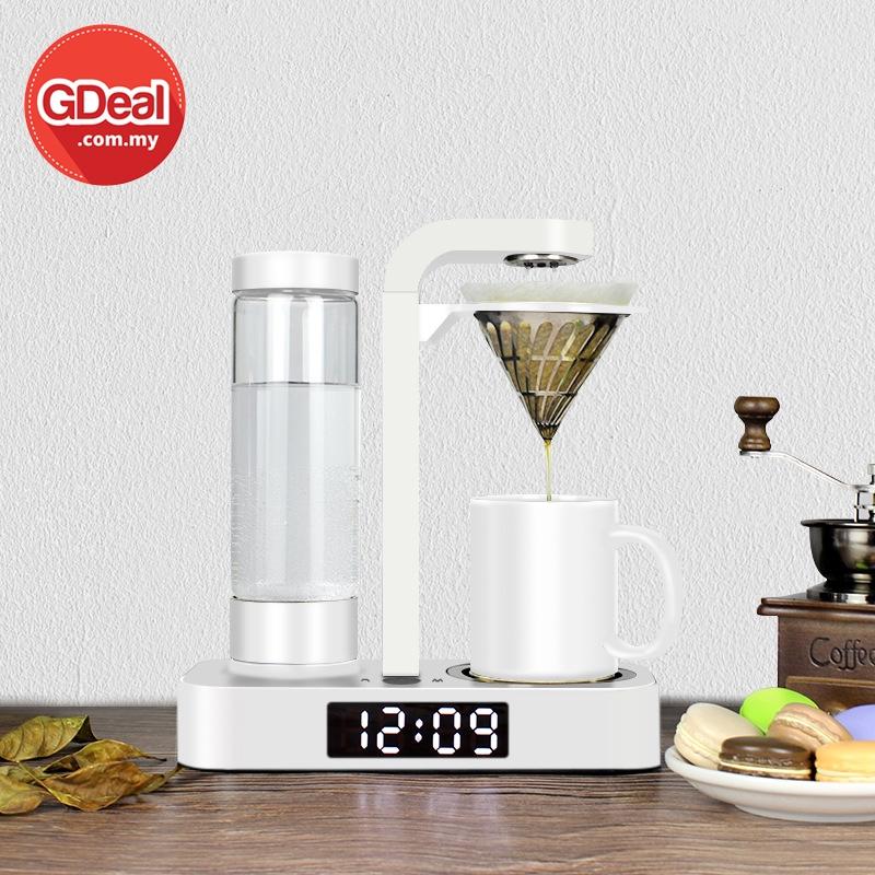 GDeal Creative Clock Multi Function Stainless Steel Coffee Maker Drip Pot Mesin Pembuat Kopi ميسين ڤمبوات كوڤي
