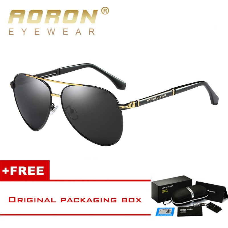 ab63819b94 AORON EYEWEAR Men Women Square Polarized Sunglasses UV Protection A387T