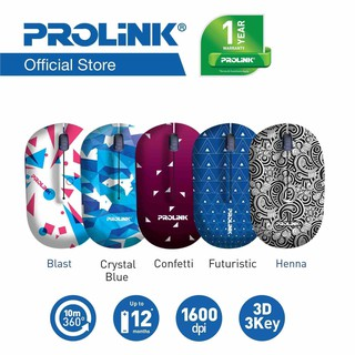 PROLiNK Artist Collection Wireless Optical Mouse PMW5005