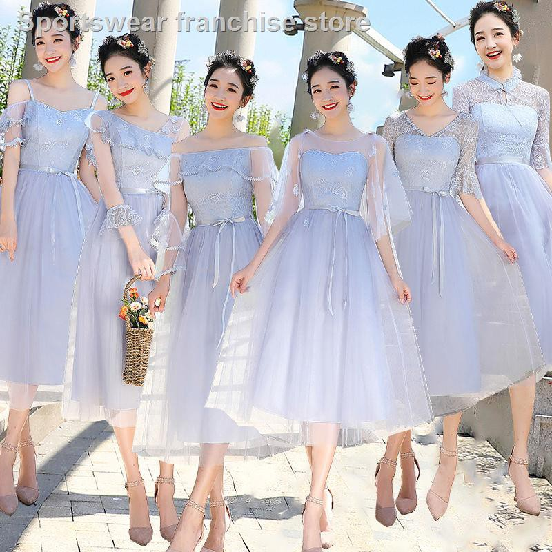 Dress Bridesmaid Dress Wedding Dress Bridesmaid Dresses Short Ladies 2019 New Bridesmaids Dress Long Evening Rite Stud Shopee Malaysia