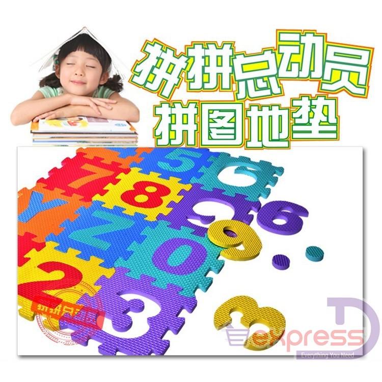 36 Piece Alphabet A-Z /& Numbers 1-9 Play Mats EVA Foam Children Play Room Jigsaw