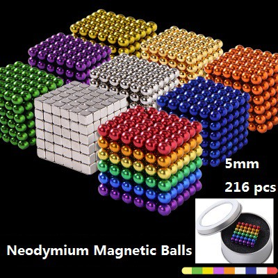 Neodymium Magnetic Balls 216Pcs 3-5mm Spheres Beads Neodymium Magic Cube  Magnets