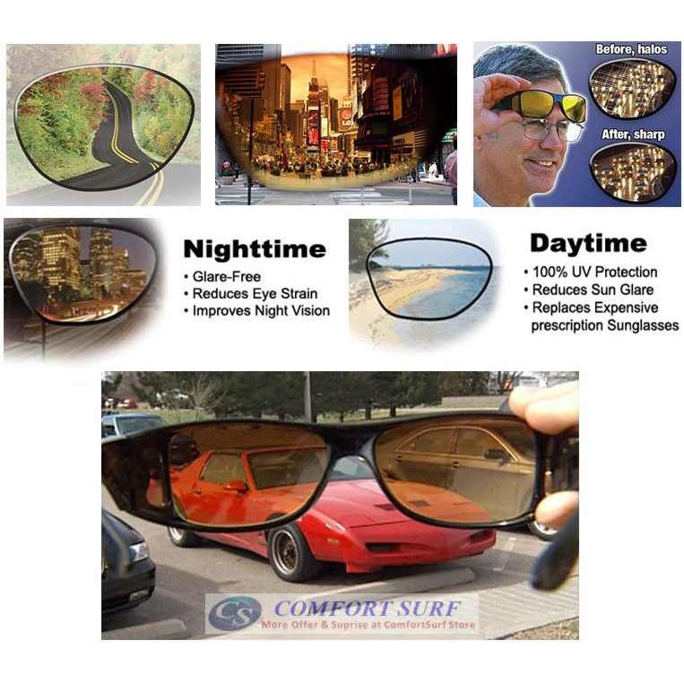 EG/_ Men Driving Glasses Anti Glare Vision Driver Safety UV400 Protect Goggle Pop