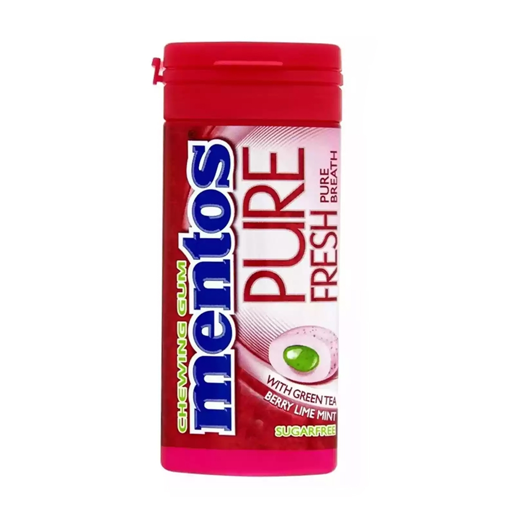 MENTOS PURE FRESH PURE BREATH BERRY LIME MINT 29.7G