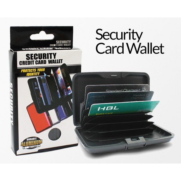 Security Card Wallet - 6 Pocket Accordian File to hold cards - ID - Cash
