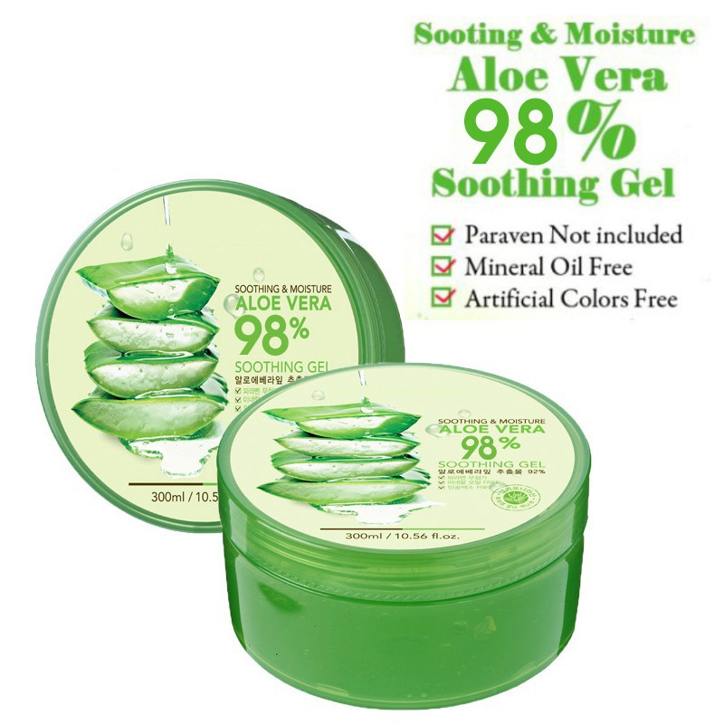 c7efdd347044 Healthy Moisture Aloe Vera Soothing Gel Natural Skin Care Face Facial