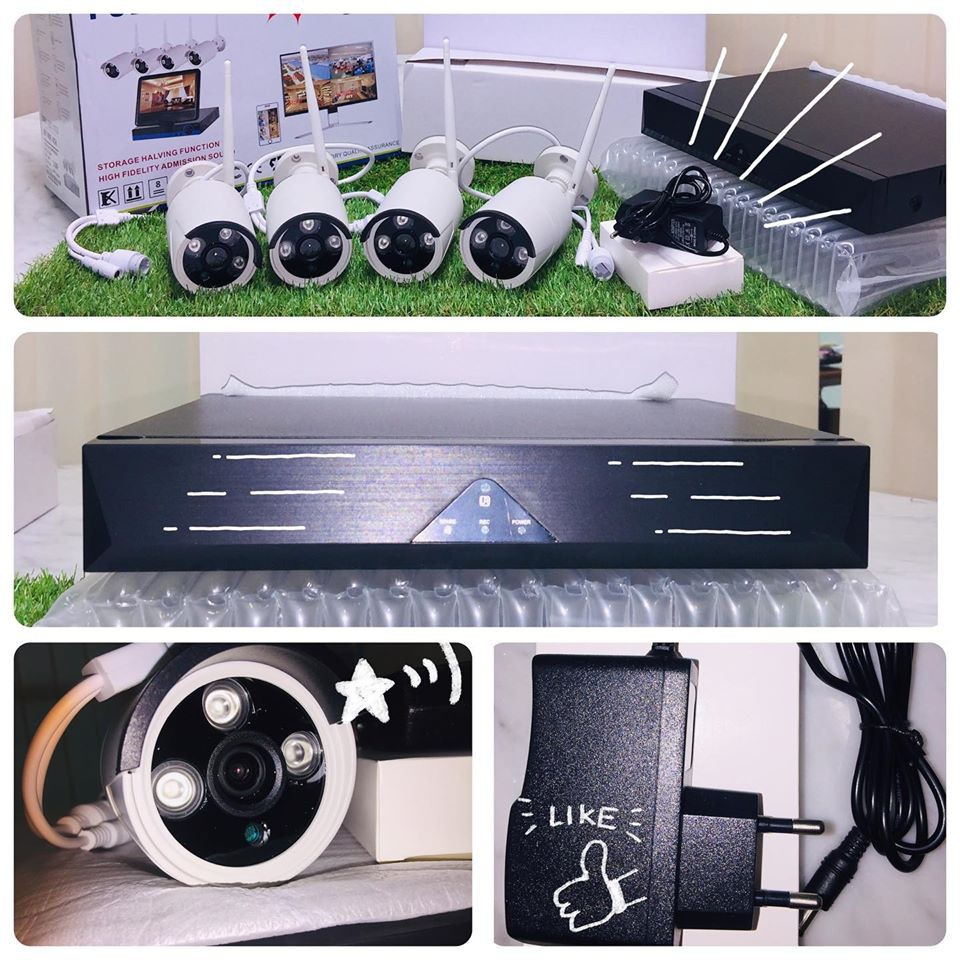 WIRELESS CCTV FULL SET - 4 CHANNEL AND 2.0 MP