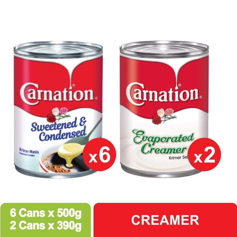 Carnation Sweetened Beverage Creamer Bundle (500g x 6)