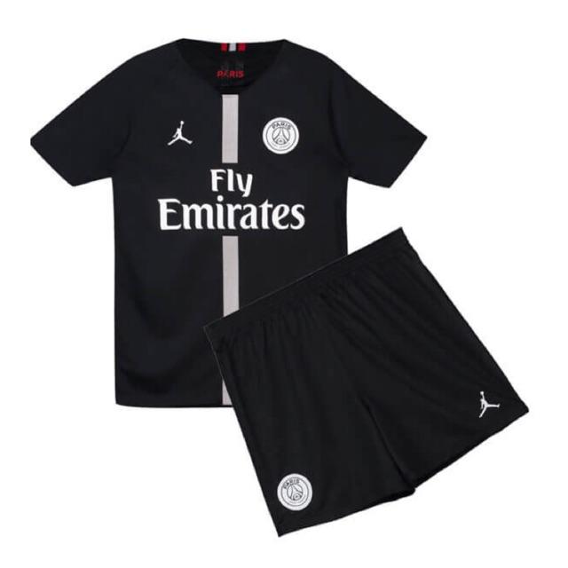 Psg Jordan Kids Set Jersey 2018 19 Black Shopee Malaysia