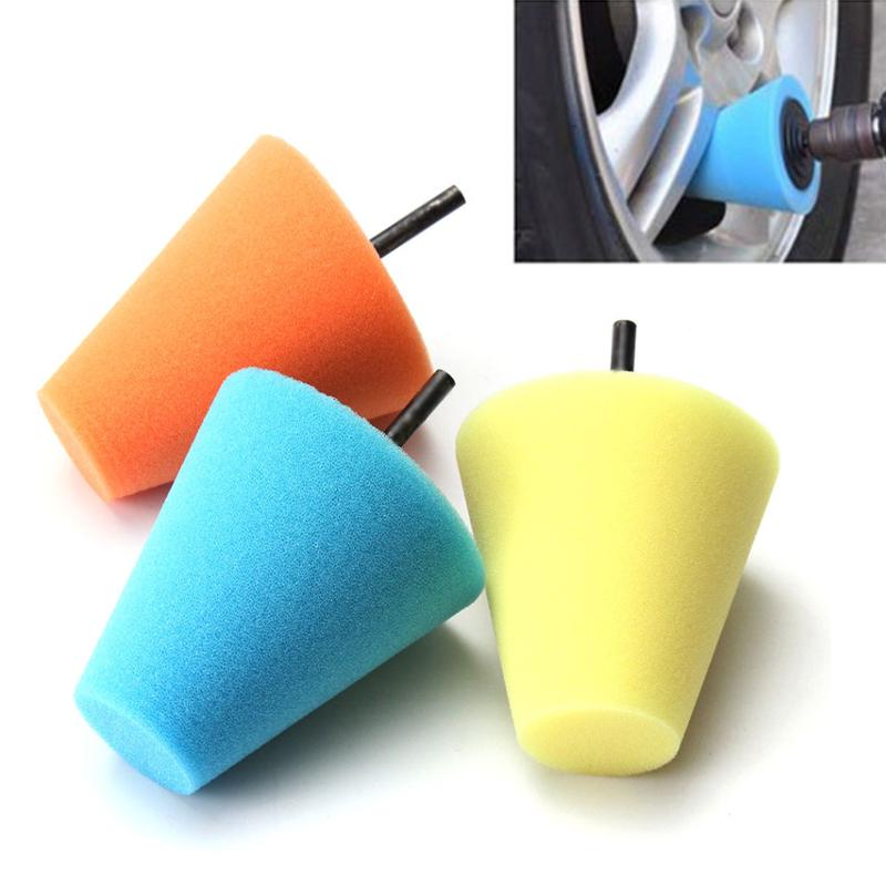 Automotive WEISY 5PCS Cone-shaped Sponge Tools Foam Multi-functional Pad Polishing Wax Polishing Pad Tool for Car Care Paint Care