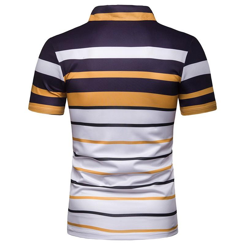 Men/'s Summer Business Shirts Short Sleeve Lapel Casual Beach T-Shirt Tops Tee