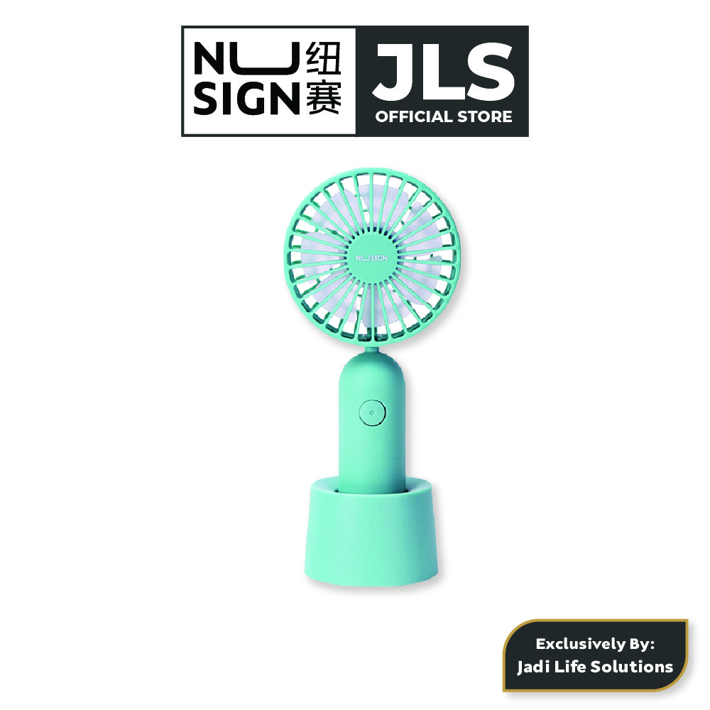 Jadi Nusign 3-Speed USB Rechargeable Table Fan in Lagoon Blue