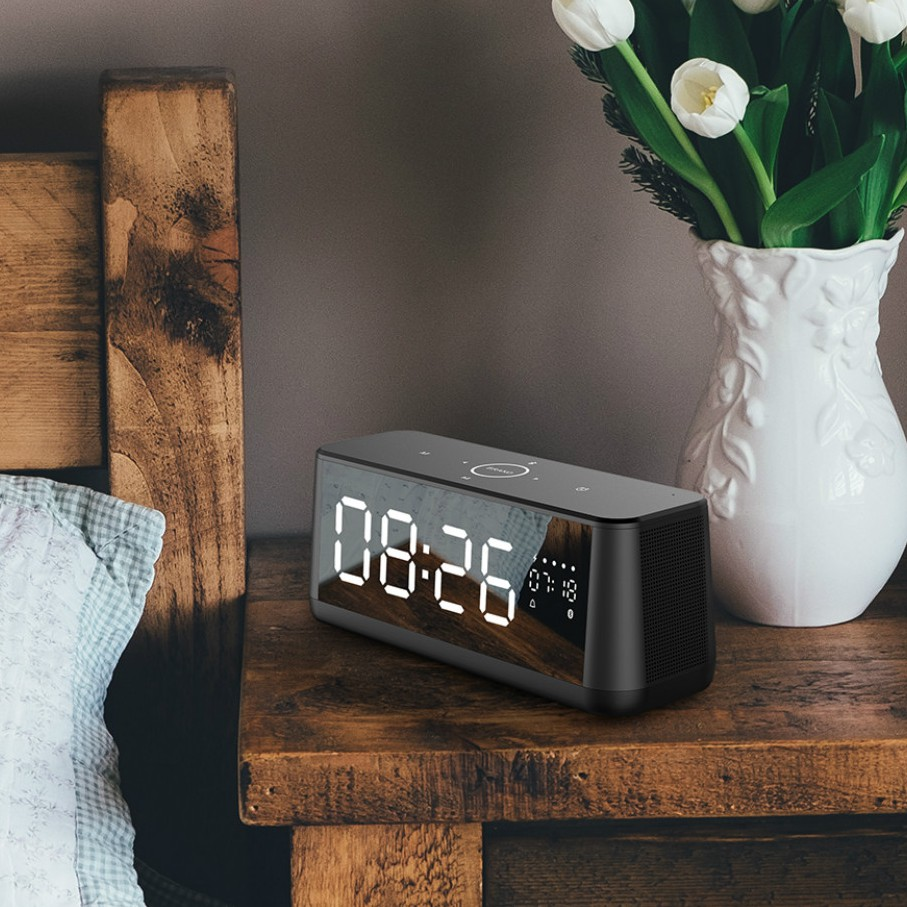 MIFA A30 Metal Full Screen Touch Display Bluetooth Speaker with Alarm Clock