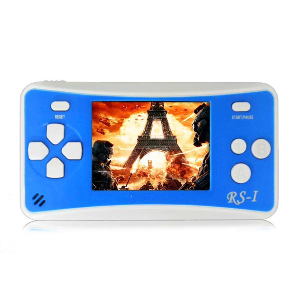Portable Video Game Console 8 Bit Retro Handheld Game Player Built-in 152 Classic Games - Blue (Blue)