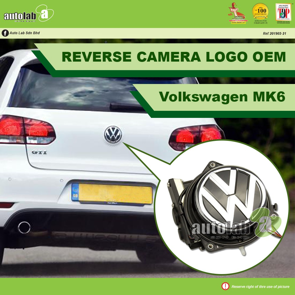 OEM Logo Reverse Camera - Volkswagen MK6