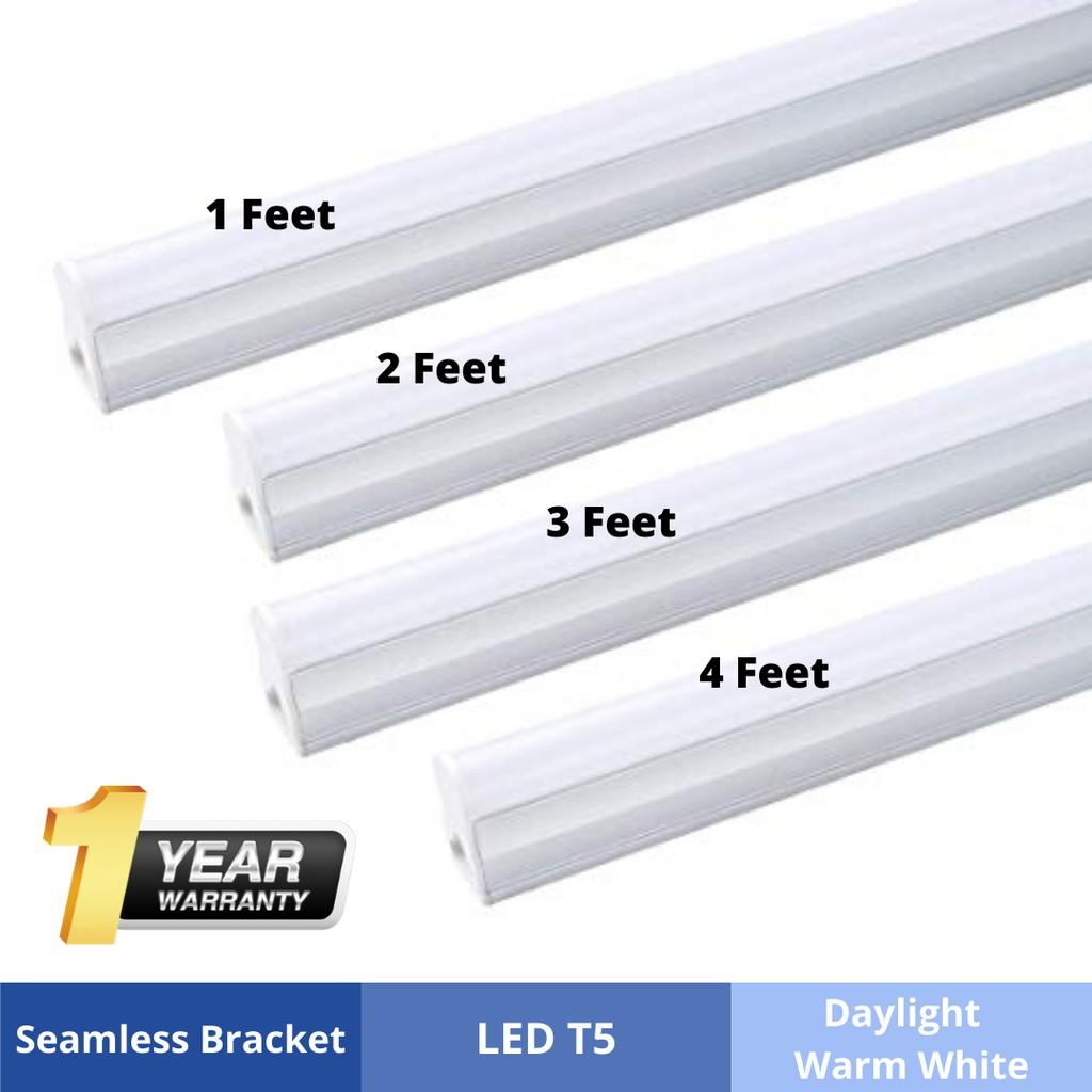 5W T5 LED Light Tube 1Feet Complete Set (White, Warm White, Red, Blue)