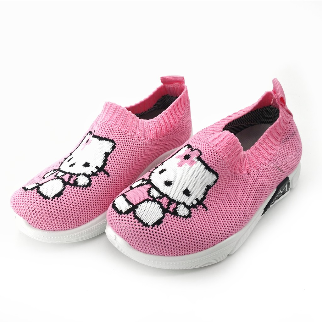 YEBENG Infant Baby Girls HELLO KITTY Pink Canvas Shoes 01-7
