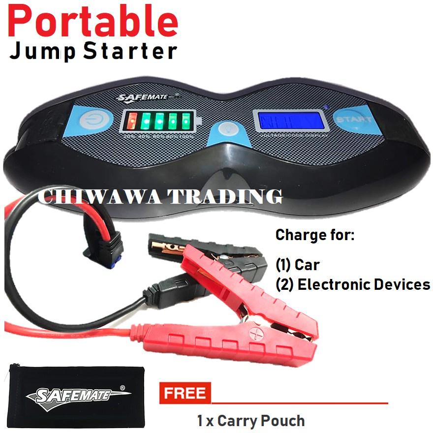 【Malaysia 3-Pin Plug】 Car Jumper jump Starter High Power Mobile Power Bank