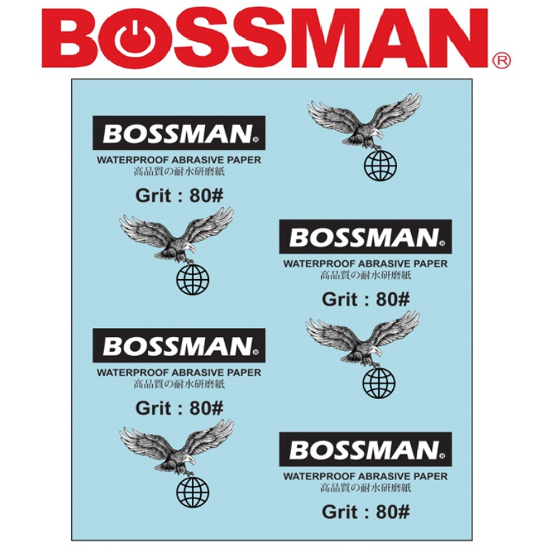 BOSSMAN Kertas pasir WATERPROOF ABRASIVE PAPER (SILICON CARBIDER)ACCESSORIES EASY USE SAFETY GOOD QUALITY 沙纸