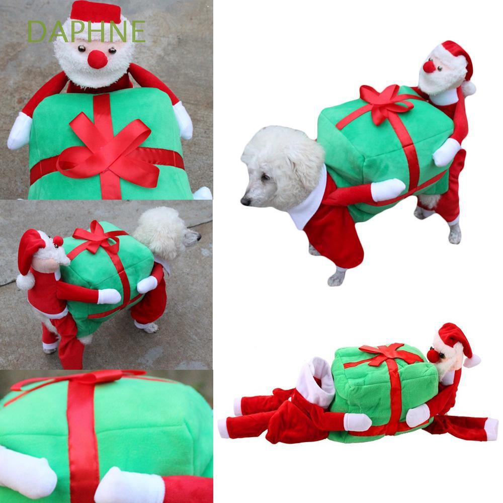 Christmas Dog Costumes.Autumn Winter Warm Funny Cosplay Jacket Christmas Dog Costumes