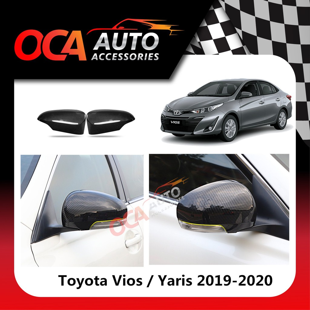 Toyota Vios Yaris Carbon Side Mirror Cover 2019-2020