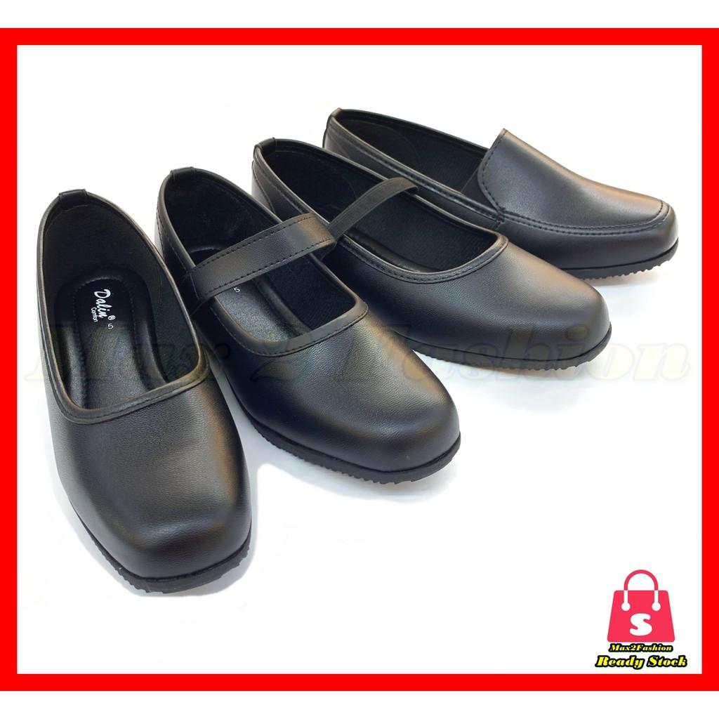 *C&T* {Ready Stock} Ladies Black Shoe Working/School Formal Shoes