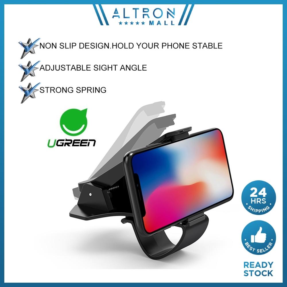 UGREEN Car Phone Mount HUD Clip Design Dashboard Phone Holder Width Sight Angle Adjustable for Safe Driving Smartphone