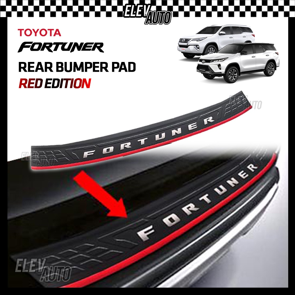 Toyota Fortuner 2016 - 2021 Rear Bumper Pad Guard Protector Toyota Fortuner Accessories 2017 2018 2019 2020