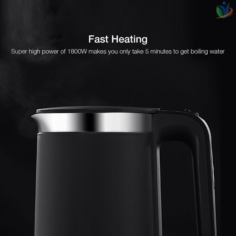 Global Xiaomi VIOMI Constant Temperature Electric Kettle Pro YM-K1503 1.5L 1800W Stainless Steel OLED Display Smart Fast