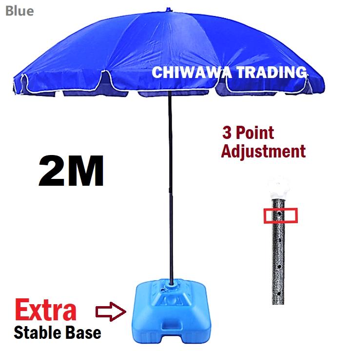 STRONG BASE 2m 7ft 3m 10ft Adjustable Umbrella UV Sun Shade Canopy Night Market Stall Payung Pasar Malam Kanopi Khemah 1