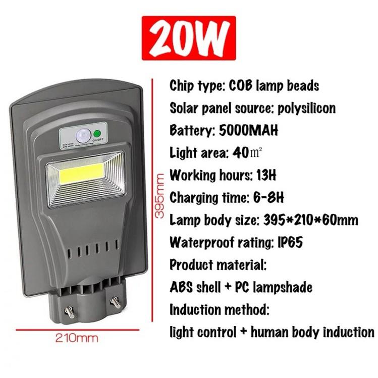 [ READY STOCK ]  ( FREE POLE ) COB Solar Street Light Radar PIR Motion Sensor IP65 Waterproof Flood Lampu Pelita