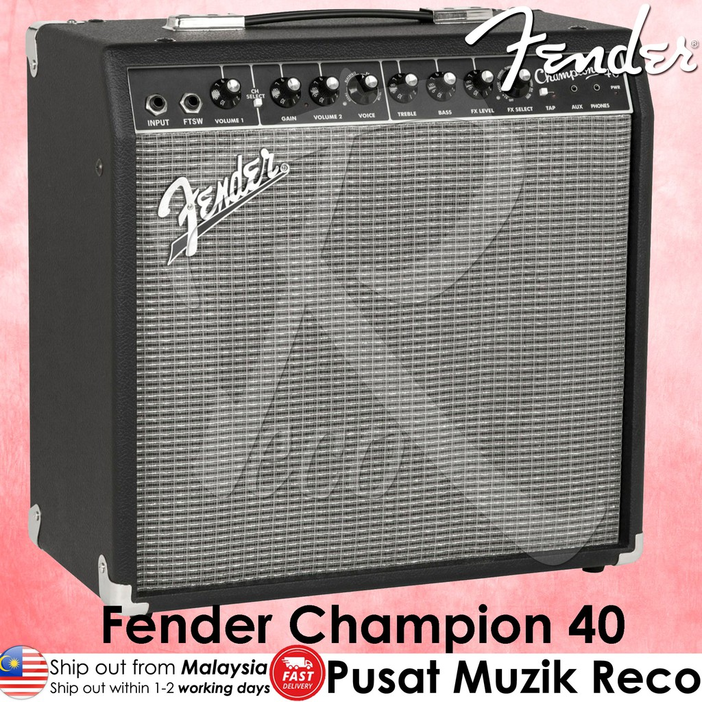 Fender Champion 40 Guitar Combo Amplifier 40W