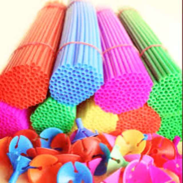 READY STOCK - Balloon Stick 40cm (with Balloon Holder) (10 / 100 sets)