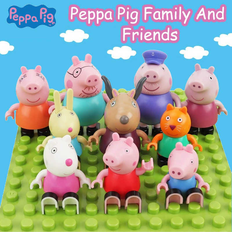 Peppa Pig Peggy Compatible Lego Duplo Building Blocks Kids Toys Figures Gifts