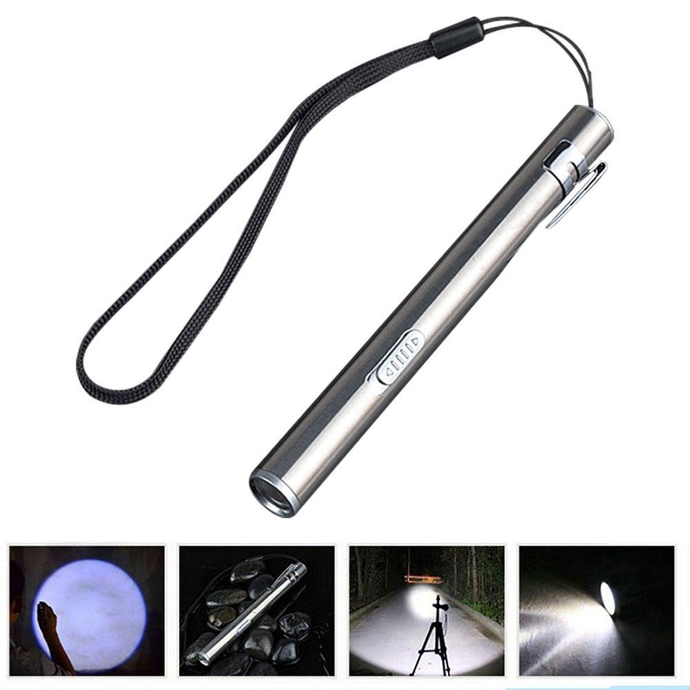 Hot Bright Light Lamp Pocket Flashlight Torch LED Pen Size Q5 USB Rechargeable