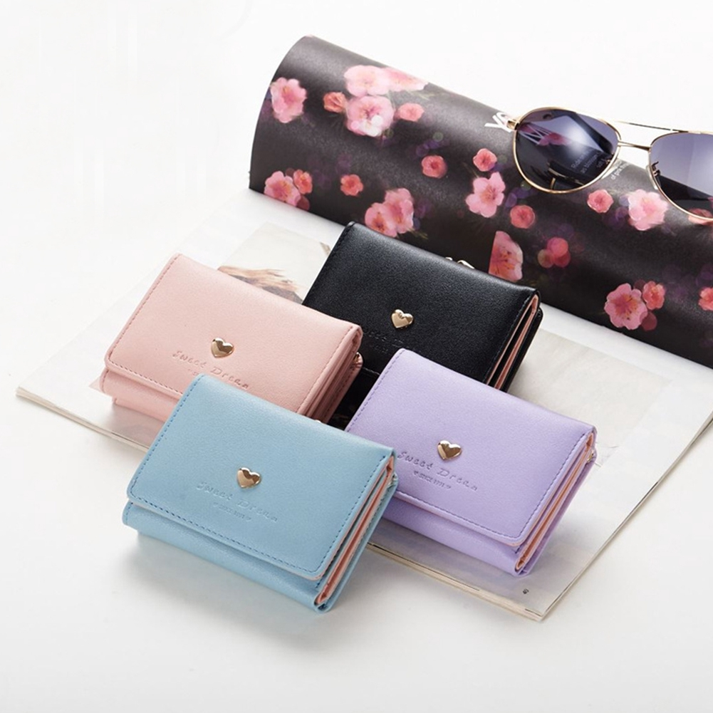 LADIES WALLET STYLE CLUTCH PURSE FAUX LEATHER WITH CLIP LOCK
