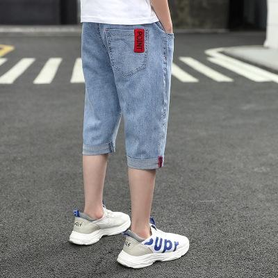 EZYCloset Boys' shorts children's Capris Han and bianchao summer middle  summer Pants 2020 new Capris boys' big denim | Shopee Malaysia