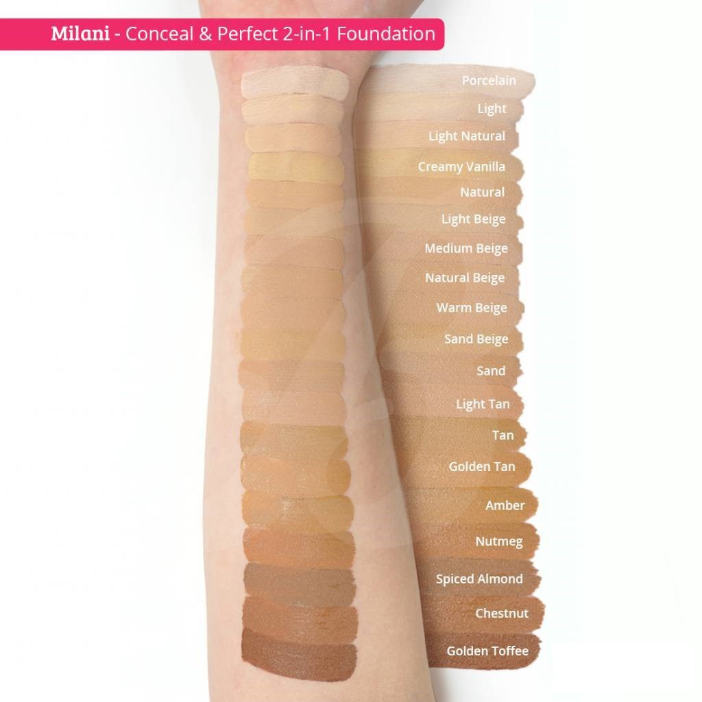 Cotd Milani Conceal Perfect 2 In 1 Foundation Concealer Shopee Malaysia