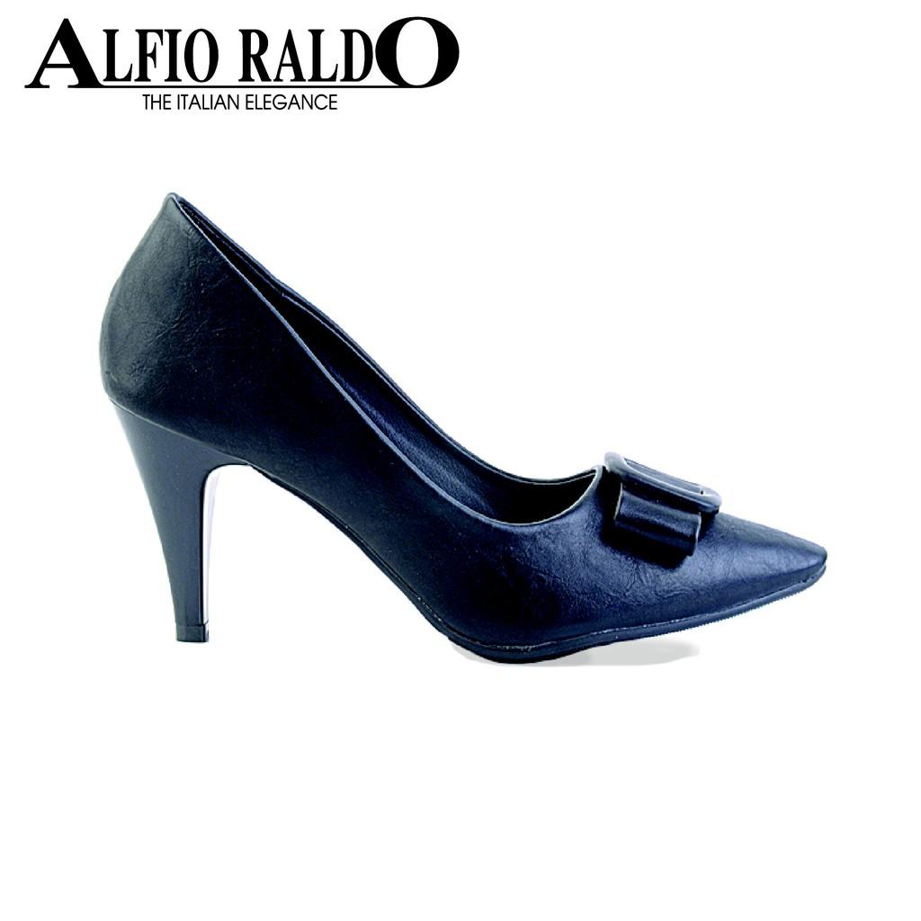 a2537c7f6472 Alfio Raldo Chic Black Block Heel with Gold Metal Detail -SL-12642 ...