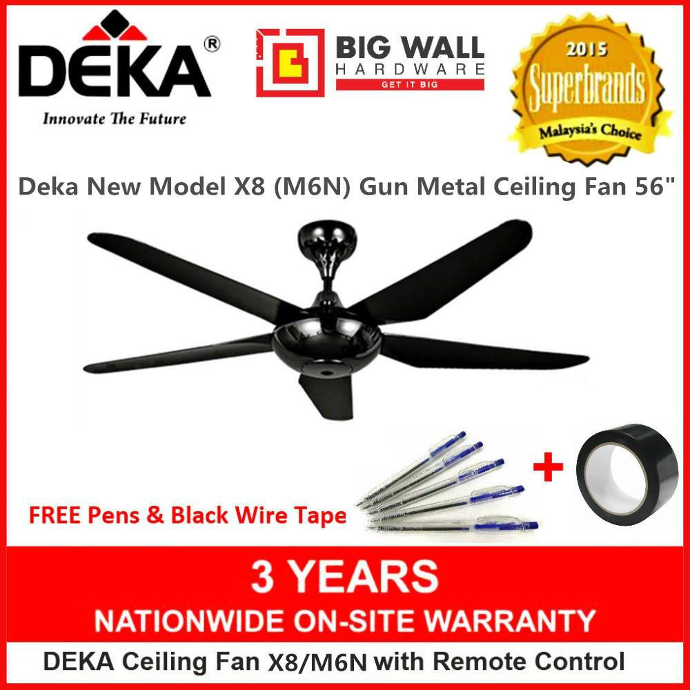 Deka X8 5 Blades Gun Metal Ceiling Fan 56 inches Kipas Siling