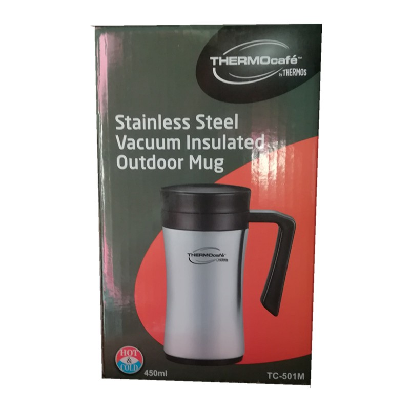 Stainless Insulated Outdoor Vacuum Mug Steel Thermocafe 450ml POkiXuZ